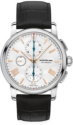 Montblanc 4810 Stainless Steel & Matte Alligator Strap Automatic Chronograph Watch