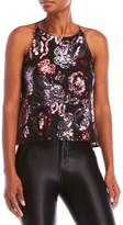 Necessary Objects Floral Sequin Top