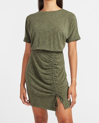 Express Ruched Front T-Shirt Dress