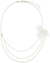 Monsoon Triple Flower Lace Layered Necklace