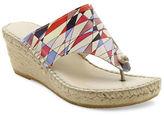 Andre Assous Alyssa Leather Espadrille Thong Sandals