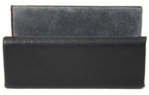 Royce New York Suede Lined Business Card Holder