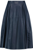Iris and Ink Cynthia Pleated Leather Skirt