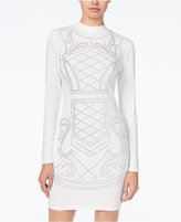 Say What Juniors' Long-Sleeve Mock-Neck Beaded Dress