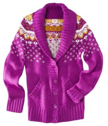 Mossimo Petites Fairisle Shawl Collar Cardigan - Assorted Colors