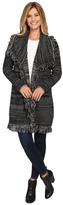 NYDJ Outerwear Fringed Car Coat