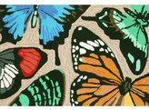 Red Barrel Studio Birchview Butterfly Dance Neutral Indoor/Outdoor Area Rug Rug