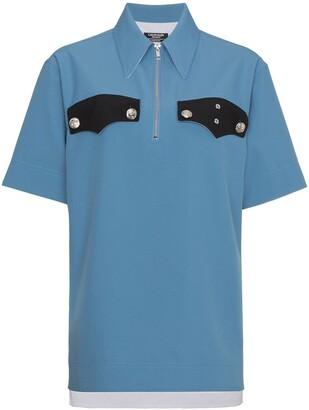 Calvin Klein Contrast Pocket Detail Zip Shirt