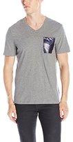 Calvin Klein Men's Slim Fit Foil Pocket Short Sleeve V-Neck T-Shirt