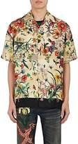 Gucci Men's Flora Snake Silk Bowling Shirt