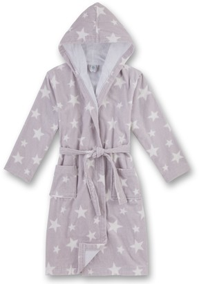 Sanetta Girl's 243903 Dressing Gown Grey (Silber) 176