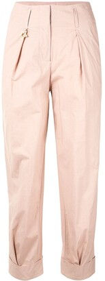 Lorena Antoniazzi Tapered Turn-Up Trousers