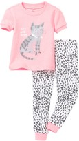Petit Lem I Heart Cat Naps Pajama - 2-Piece Set (Baby Girls)