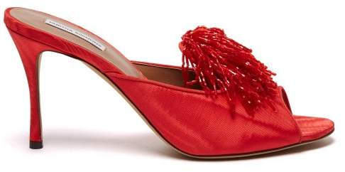 dcd9dd7fd6d Pammy Beaded Tassel Mules - Womens - Red