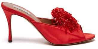 Tabitha Simmons Pammy Beaded Tassel Mules - Womens - Red