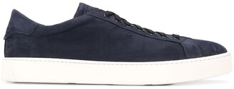 Santoni Flat Lace-Up Sneakers