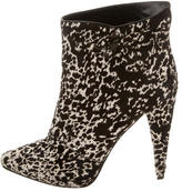 Sergio Rossi Ponyhair Ankle Boots