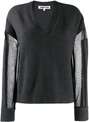 McQ sheer panel jumper