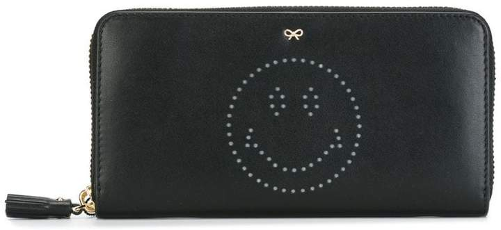 Anya Hindmarch 'Smiley' zip around wallet
