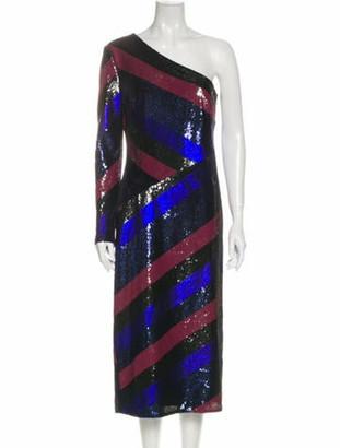 Diane von Furstenberg Silk Midi Length Dress w/ Tags Black