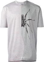 Lanvin microstripe spider combo T-shirt - men - Cotton - M
