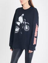 Justin Bieber Stadium Tour motorcycle cotton-jersey top