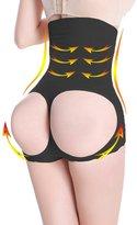 HOLYSNOW Women Apple Bottom Shaper High Waist Belly Control Slimer Black M/L