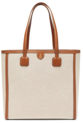 Mark Cross Antibes Large Leather-trimmed Canvas Tote - Womens - Brown Multi
