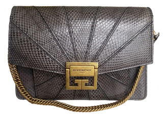 Givenchy GV3 Grey Python Handbags