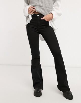 Dr. Denim Macy flare jeans in black