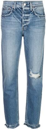 Trave Denim distressed high rise jeans