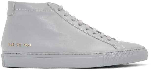 Common Projects Grey Original Achilles Mid Sneakers