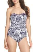 Tommy Bahama Paisley Paradise Bandeau One-Piece Swimsuit