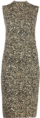 Proenza Schouler White Label Abstract-Print Midi Dress