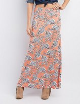 Charlotte Russe Floral Print Maxi Skirt