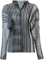 Issey Miyake geometric print plissé blouse - women - Polyester - 3