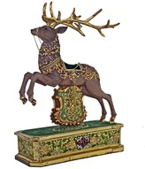 The Well Appointed House Christmas Decor - Reindeer Mantlepiece
