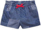 First Impressions Ruffle-Waist Patchwork Cotton Shorts, Baby Girls (0-24 months), Only at Macy's