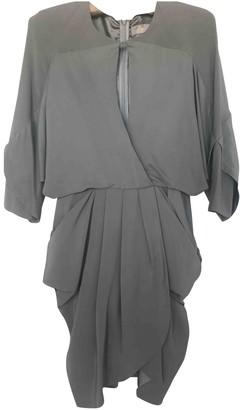 Willow Grey Silk Dress for Women