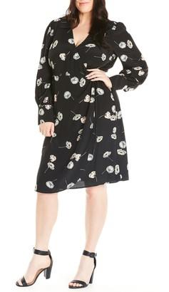 Estelle Poppy Drop Long Sleeve Wrap Dress