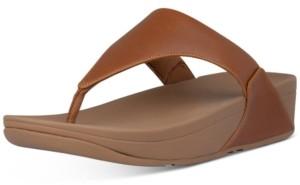 FitFlop Women's Lulu Leather Toe-Thongs Sandal Women's Shoes