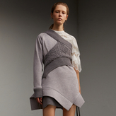 Burberry Cable Knit Panel Sweatshirt Dress