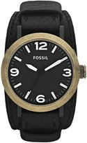 Fossil Men's Clyde JR1367 Calf Skin Quartz Watch with Dial