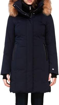 Soia & Kyo Emelyn Fox Fur-Trim Cotton-Blend Parka