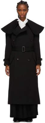 Comme des Garcons Black Wool Oversized Collar Coat