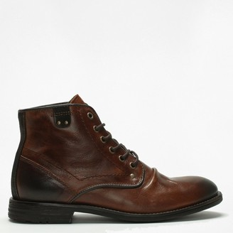 Daniel Prentis Brown Leather Ankle Boots