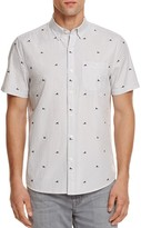 Michael Bastian Sneaker Stripe Regular Fit Button-Down Shirt