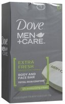 Dove Men +care Body & Face Bar, Extra Fresh, 25.5 Oz, 6 Ct, (2 Pack) *total Of 12 Bars Of Soap* by