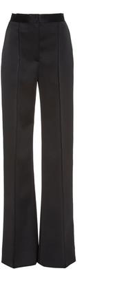 Carolina Herrera Satin Straight-Leg Pants
