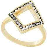 Cole Haan Goldtone Crystal Diamond Accent Ring